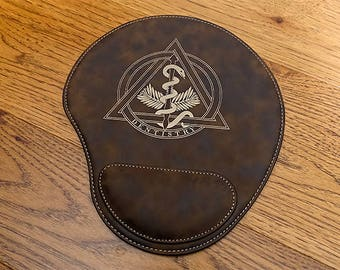 Dentist Brown Leatherette Mouse Pad