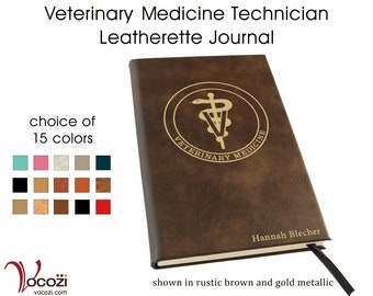 Veterinary Medicine Technician Personalized Leatherette Journal