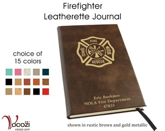 Firefighter Personalized Leatherette Journal
