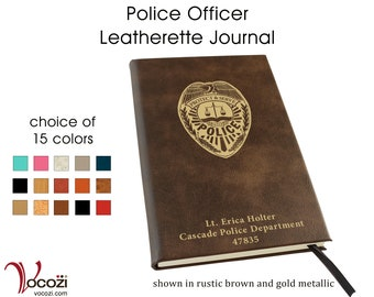 Police Officer Personalized Leatherette Journal