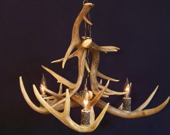 Antler chandelier etsy popular items for antler chandelier aloadofball Images