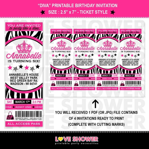Slobbery image pertaining to etsy printable invitations