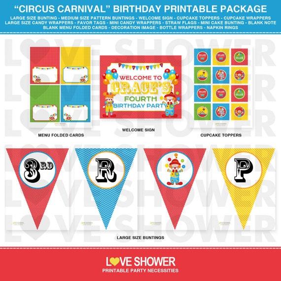 36-Big Top Circus Party Papier Sacs Cadeau-Anniversaire Carnaval faveur traiter tente