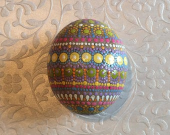 Hand Painted Dotted Easter Egg Stone