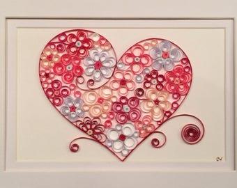 Quilled Valentine Etsy
