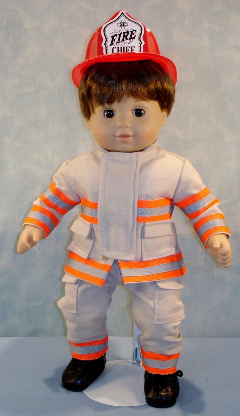 15 inch Doll Clothes  Custom Firefighter Turn Out Outfit image 0