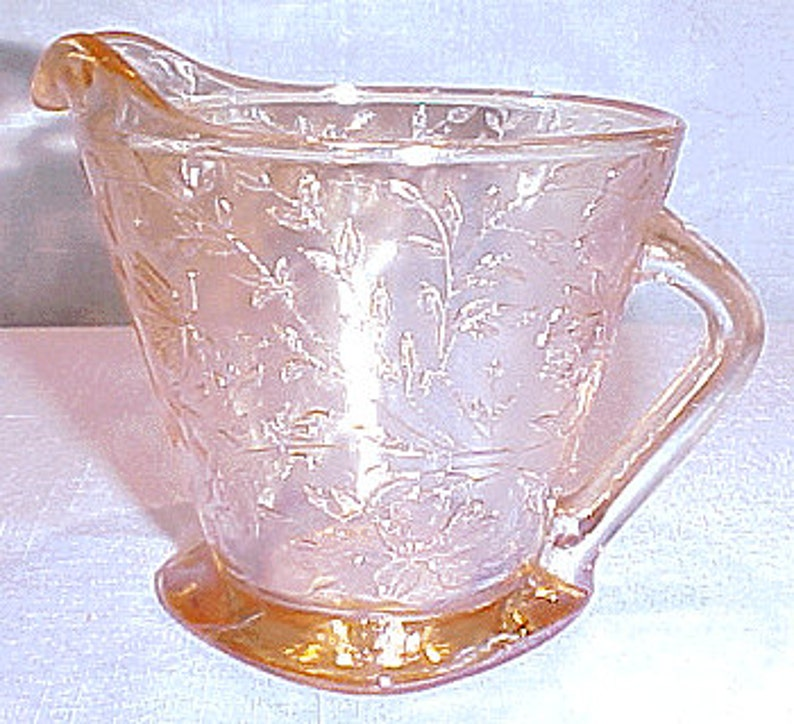 Floragold Iridized 40s 50s 60s Glass Creamer image 0