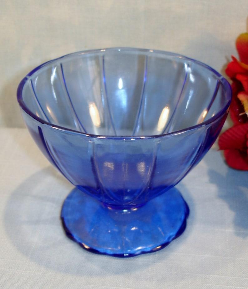 Newport or Hairpin by Hazel Atlas Cobalt Blue Depression Glass image 0