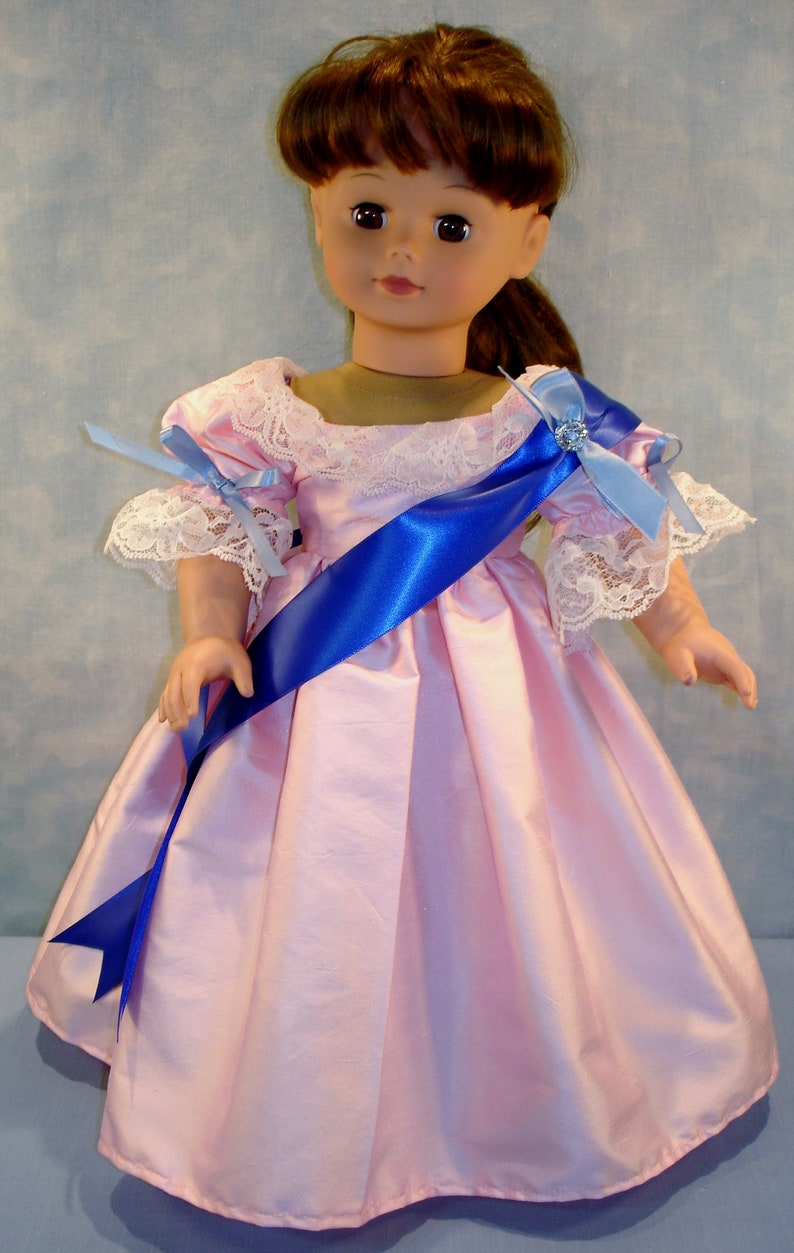18 Inch Doll Clothes  Queen Victoria Pink Silk Dupioni Ball image 0