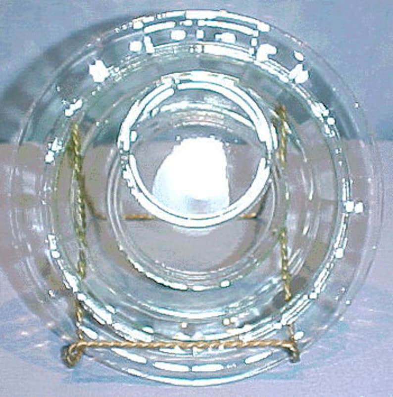 Ring Banded Rings Green Depression Glass Plate 6 in. image 0