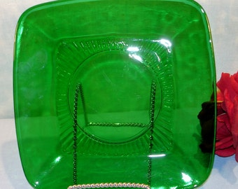 Charm Forest Green by Anchor Hocking Luncheon Plate, 8.5 inch