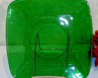 Charm Forest Green by Anchor Hocking Dinner Plate, 9 inch