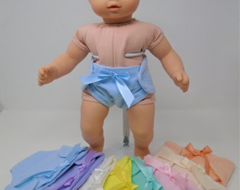15 Inch Doll Clothes - Flannel Diapers handmade by Jane Ellen to fit 15 inch baby dolls