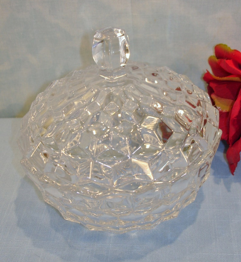 Fostoria American Crystal Candy Dish with lid image 0