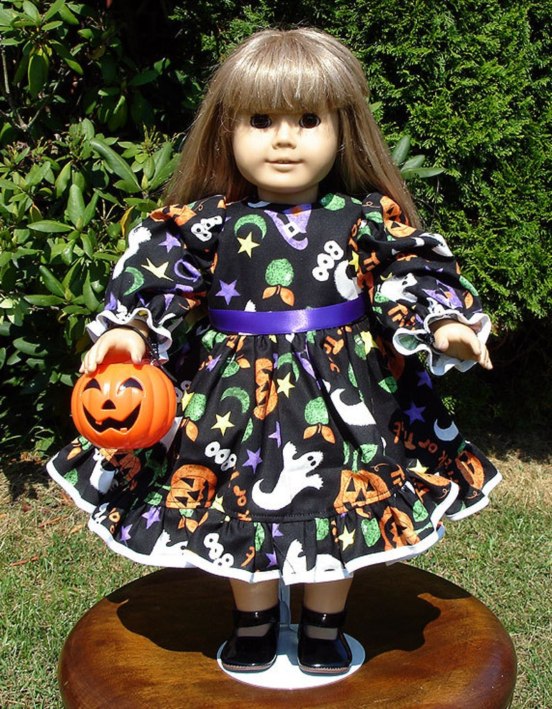 18 Inch Doll Clothes  Boo Halloween Dress made by Jane Ellen image 0