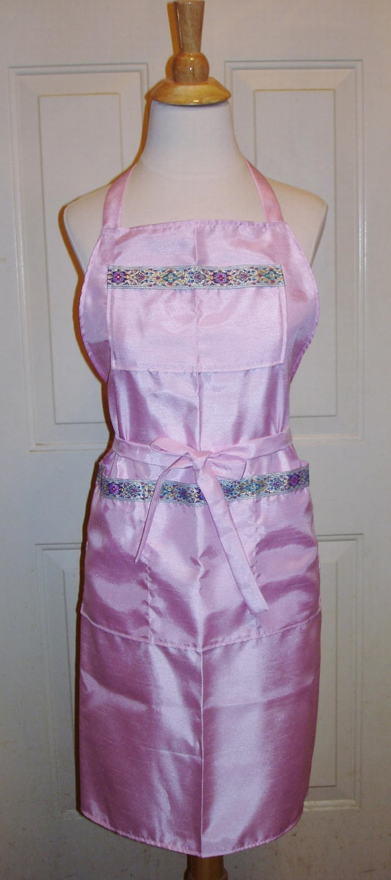 Wedding Dance Apron  Custom Order Shantung with Embroidered image 0