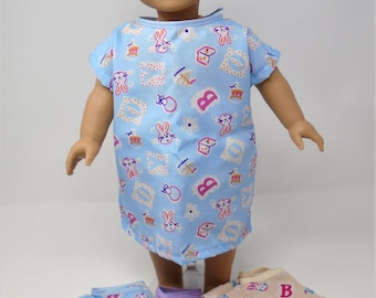18 Inch Doll Clothes - Boys Hospital Gown and Briefs Set handmade by Jane Ellen to fit 18 inch dolls
