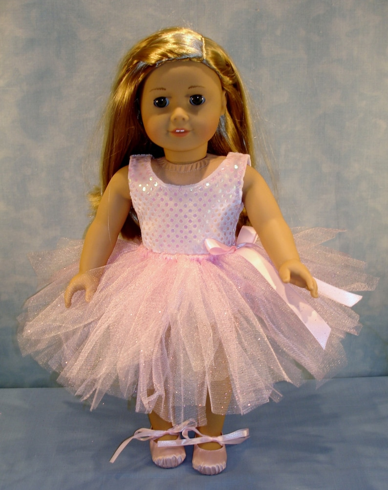 18 Inch Doll Clothes   Pink Tutu Outfit handmade by Jane image 0