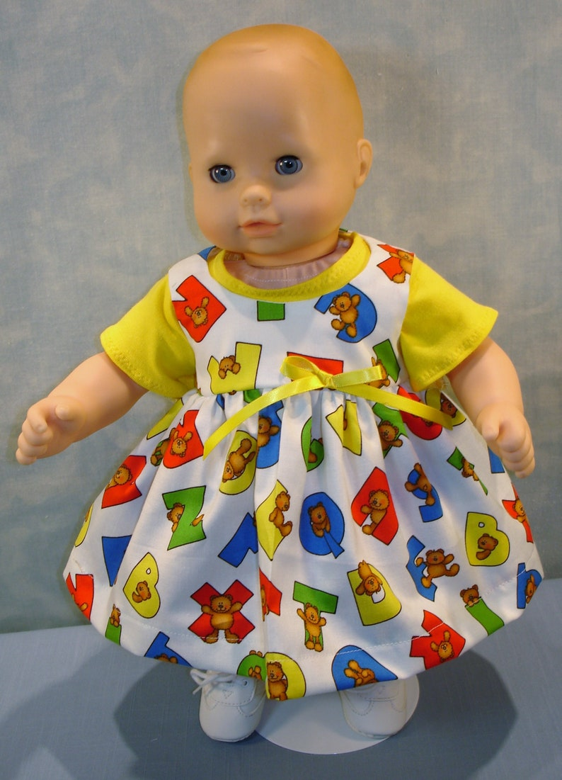 15 Inch Doll Clothes  Bears on Alphabets Back to School image 0