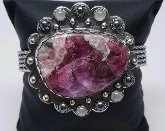 NO LONGER AVAILABLE     Cobalto Calcite Cuff Bracelet Jewelry