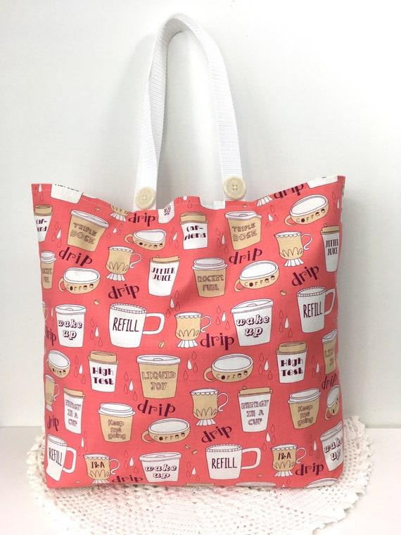Cabas en coton marché sac goutte à goutte goutte à goutte Coffe Tote sac cadeaux pour les amateurs de café éco coton sac Shopping Farmers Market