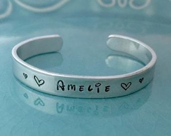 Toddler Bracelet - Children's Bracelet - Hand Stamped - Personalized Jewelry - Name - Jewelry - Bracelet
