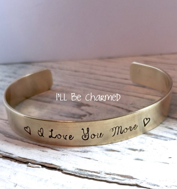 3468527567c I Love You More Custom Bracelet Personalized Bracelet Hand   Etsy