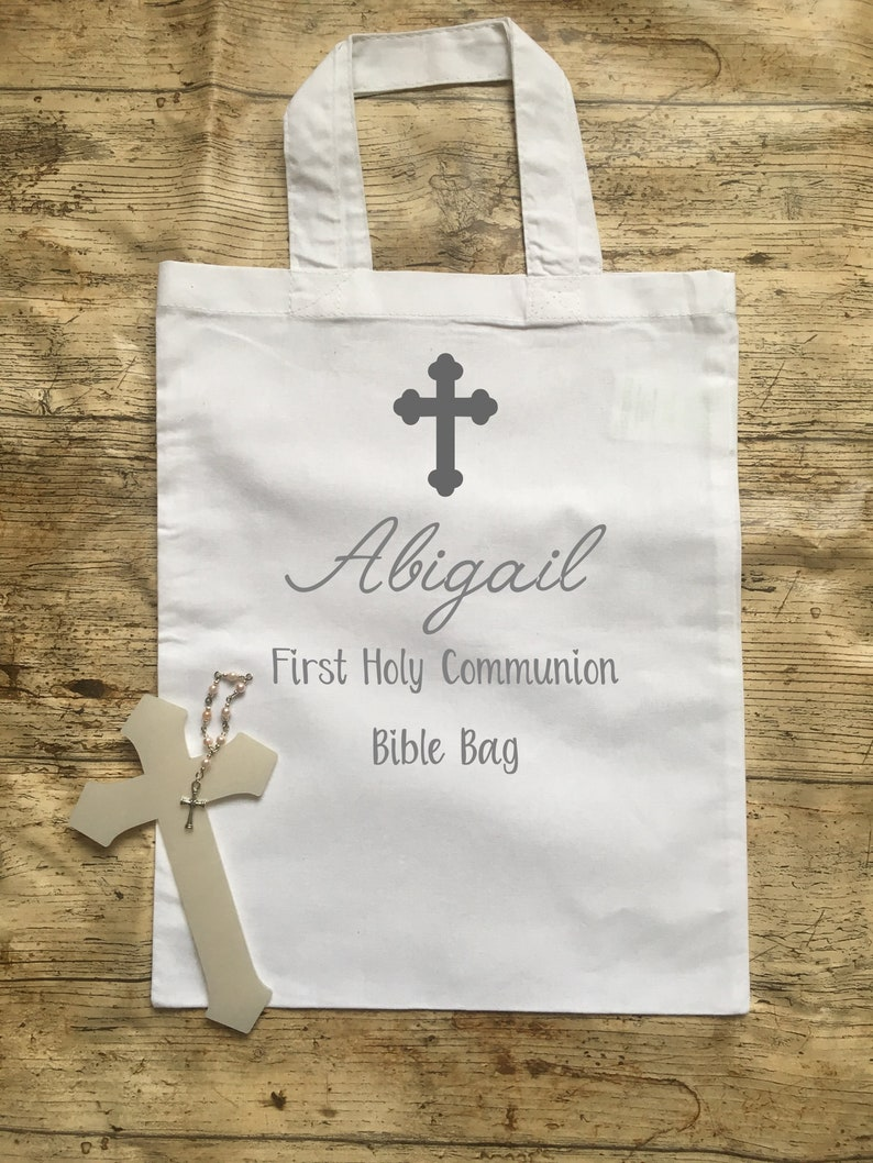 First Holy Communion Personalised Bible Bag Confirmation Bible Bag Personalised Gift Bag Gifts for Communion Personalised Communion