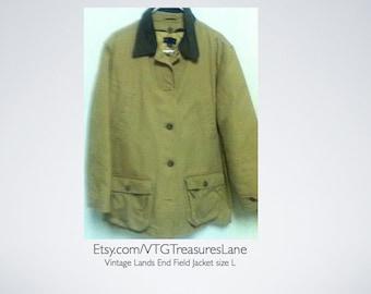 ae2c235b96 Vintage Lands End Field Jacket size L