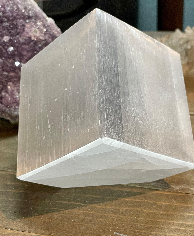Spiral Selenite tapered Wand, Selenite Wand ,Spiral Selenite Crystal Wand - Healing Crystal