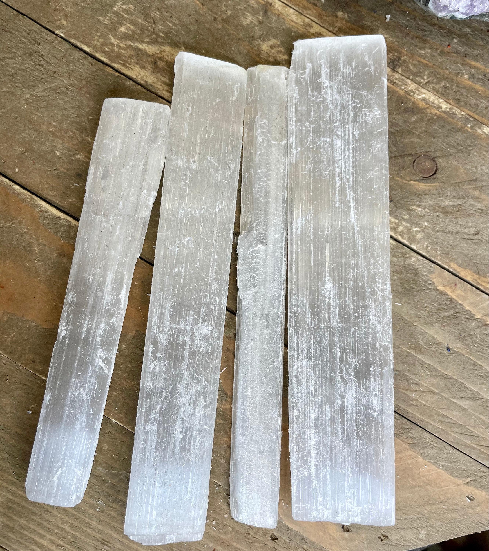 3 pieces Selenite Sticks - 4 Selenite Sticks- For Reiki Healing,Selenite Crystal Healing
