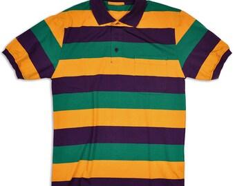 2ced94fb Mardi Gras Short Sleeve Polo Shirt. Poree