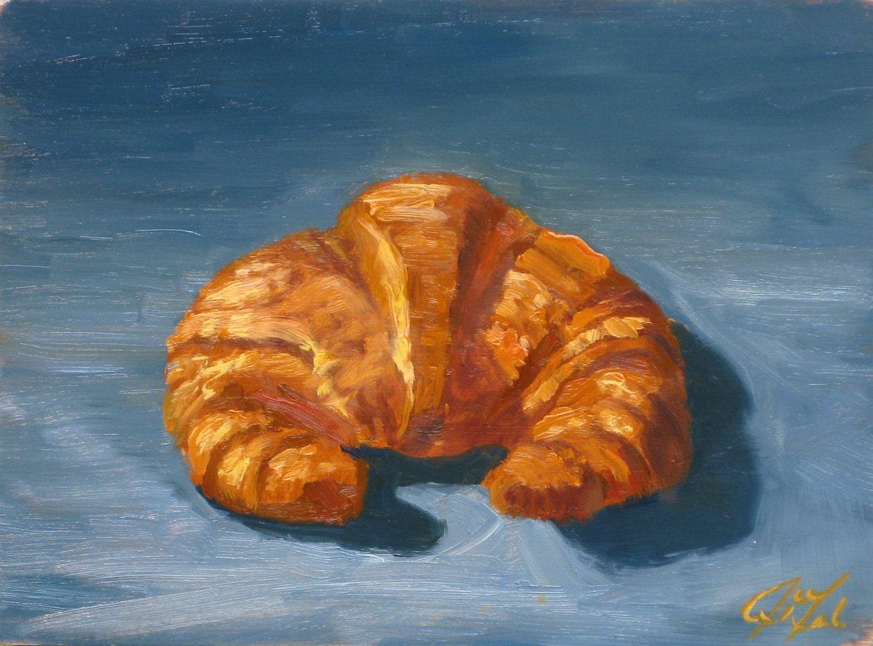 Afbeeldingsresultaat voor croissant painting