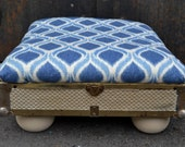 Upcycled Trunk Lid Pet Bed, Footrest