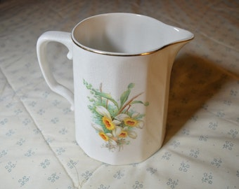 ON SALE  A Vintage Pitcher or Creamer  by K T & K China with Daffodils
