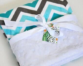 Minky Blanket Minky Baby Blanket Minky Cuddle Baby Gift Shower Gift Baby Gift