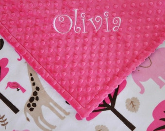 Personalived Minky Blanket Minky Baby Blanket Minky Cuddle Baby Gift Shower Gift Baby Girl Gift