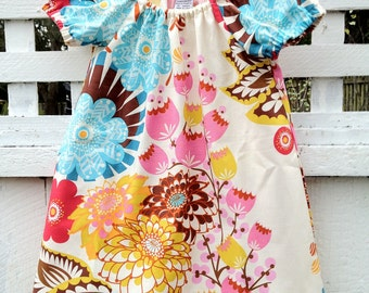 Girls Dress Toddler Peasant Dress Sweet and Simple in Lou Lou Thi by Anna Maria Horner Summer Dress