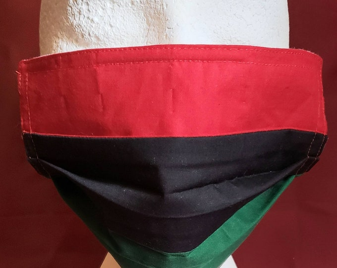 Featured listing image: Pan-African Self Tie or Pre-Tied Bow Tie or Face Mask