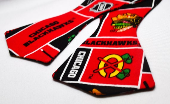Chicago Blackhawks Self Tie Bowtie or Face Mask