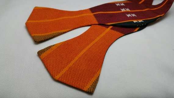 Black and Gold African Kente Print BowTie