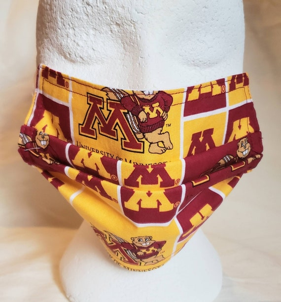 University of Minnesota Self Tie Bow Tie or Face Mask