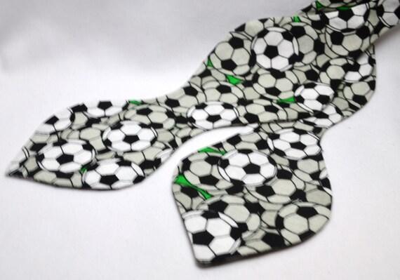 Soccer Print Spade Bowtie