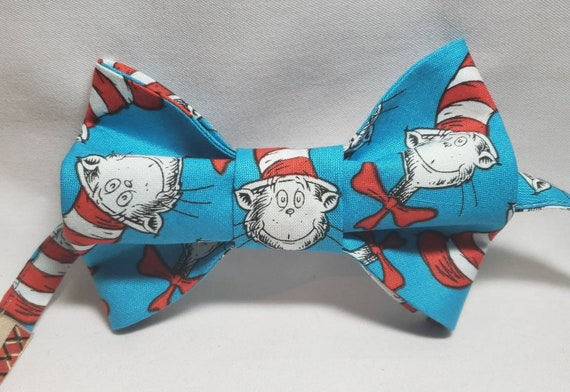 Dr. Suess Print Bow Tie, Adult and Boys Sizes, 100% cotton fabric