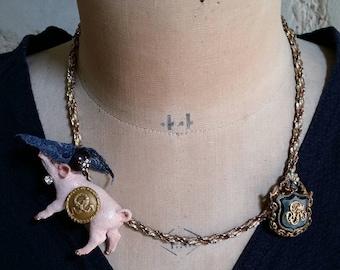 "Animal Necklace "" Piggy """