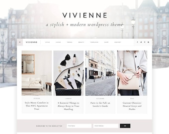 "NEW Wordpress Theme - Wordpress Ecommerce Theme - Photography Theme - Genesis Theme - ""Vivienne"" Instant Digital Download"