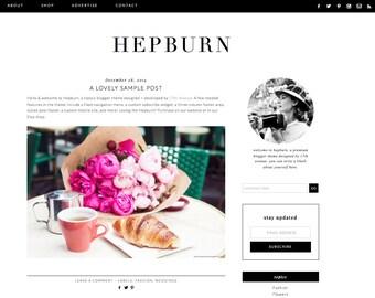 Blogger Template Premade Blog Design Olivia Ryan Etsy