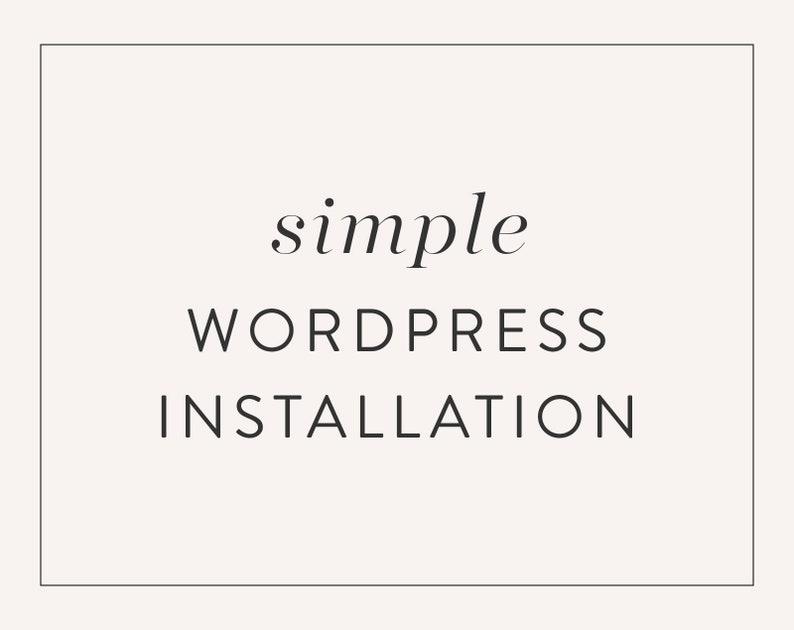 Simple WordPress Theme Installation Service Installation for image 0