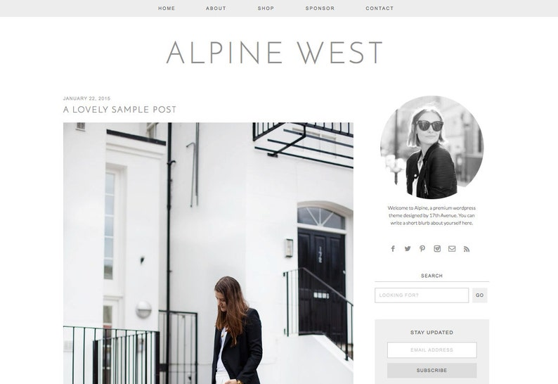 Wordpress Theme Premade Blog Template Design  image 0