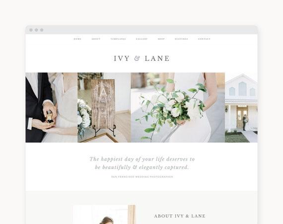 "Wordpress Theme - Wordpress Ecommerce Theme - Photography Theme - Genesis Theme - ""Ivy & Lane"" Instant Digital Download"